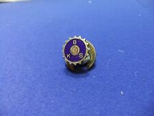 vtg badge bks cog wheel cycling engineering society ? lapel 1940s 50s