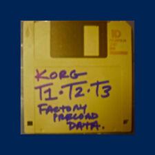 Korg T1 T2 T3 PRELOAD FLOPPY disc Performance Data korg