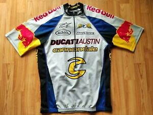 RED BULL Cannondale Ducati Austin Cycling Jersey , Size: M Very RARE !