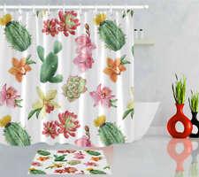 Cactus Fruit Waterproof Bathroom Polyester Shower Curtain Liner Water Resistant