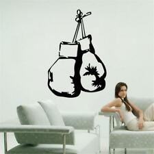 Boxing gloves fight sport decal gym wallpaper boys bedroom home Wall sticker DIY