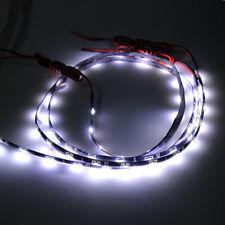 2X 60CM 24'' 30 SMD HID Pure White LED Head Fog DRL Glow Side Shine Strip Light