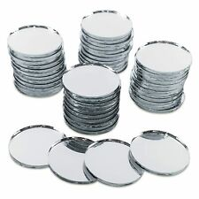 """Mini 1"""" Inch Small Round Glass Mirror Circles for Arts & Crafts Projects,."""