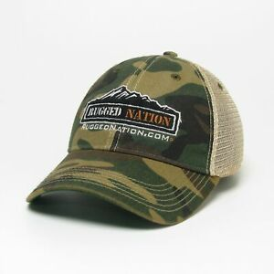 Rugged Nation Old Favorite Trucker Hat by Legacy Resort Wear in Camo
