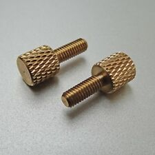 M3 knurled thumb screw 8mm thread length  Brass pc case