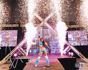 BECKETT LAYLA EL SIGNED 8x10 PHOTO BB40033 WWF-WWE-AEW-TNA-ECW-WCW-IMPACT