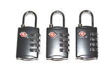 3 new Black SKB 4 dial resettable combination TSA Case Luggage Travel Lock
