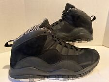 Air Jordan Retro X 10 Black Stealth White Steel Chicago 310805-003 Sz 11.5 2011