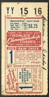 1944 World Series Game 1 Ticket Sportsmans Park St. Louis Cardinals vs Browns