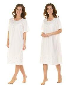 Women's Ladies Short Sleeve Nightdress Jersey Cotton S M L XL XXL by La marquise