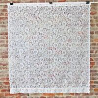 """JCPenny Lace Window Curtain Panels Panel  Flowers Cottage Chic 56"""" x 64"""" Vintage"""