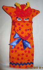 Giraffe Glove Puppet,  Handmade, Polka Dot, 14 iches