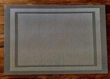 NEW Winston Porter Highpoint Gray Double Border Placemat – Set of 12