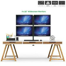 """4 x 20"""" Quad Monitor Computer Screen Display Monitor+Stand Trading Business CCTV"""