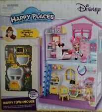 Kids House Toy Playset Happy Places Disney Townhouse Belle Home Decors Pretend