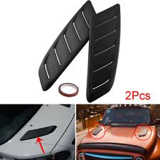 2pc ABS Plastic Car Air Intake Scoop Bonnet Hood Vent Cover Decoration Universal