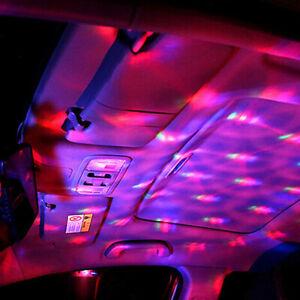 Mini Car USB Interior Atmosphere Neon Light Colorful Music LED Decor Lamp