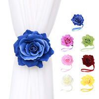 Rose Flower Magnetic Curtain Buckle Tieback Holder Clip Holdback For Window New