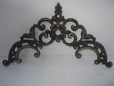 Cast iron Door topper rustic Brown Gold Old World Arch crystal rhinestones