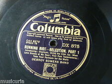 """78rpm 12"""" RUNNING RIOT SELECTION debroy somers band DX 875"""