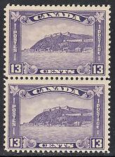 Canada 13c Quebec Citadel Pair, Scott 201, F-VF MNH, catalogue - $175