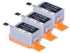 3 pack comp BCI-15 BCI-16 Color ink cartridge for Canon Pixma IP90 IP90V i70 i80
