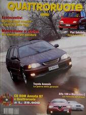 Quattroruote 508 1998 Toyota Avensis. Alfa 156 e Mercedes C. Fiat 600 [Q.63]