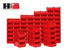 72 rote Lagerboxen Lagersichtbehälter Stapelboxen in Größe 2 MADE in GERMANY !!!