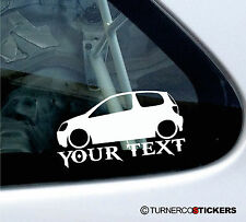 Custom Text - Low Toyota Yaris VVTi (Vitz RS, Echo) 1st Gen car Sticker /Decal