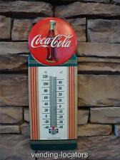 VINTAGE STYLE METAL EMBOSSED COCA COLA THERMOMETER BUTTON ADVERTISING SIGN NEW