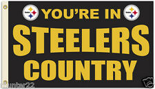 Pittsburgh Steelers  3' x 5' NFL Licensed Country Flag - Free Shipping