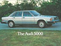 1978 AUDI 5000 Dealer Sales Brochure / Flyer / Prospekt Sheet