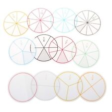Colorful Lin Fractions Circles Plastic Math Chips Mathematics Number Early Toy F