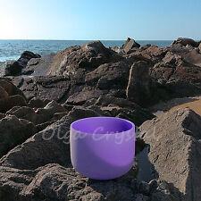 "12"" B Crown Purple Quartz Crystal Singing Bowl Meditation Heal Stone"