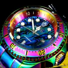 Mens Invicta Hydromax Blue Abalone Iridescent Steel Bracelet 52mm Watch New