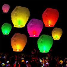 10x Chinese Sky Lanterns Floating Flying Paper Kongming Lantern Candle Wish Lamp