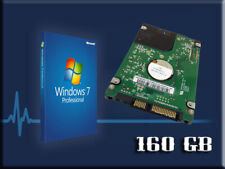 """Hard Drive 160GB Wins7 Laptop 2.5"""" Sony Vaio VGP-BPl13 VGP-BPS13/B VGP-BPS13Q"""