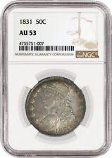 1831 50C Capped Bust Silver Half Dollar NGC AU53