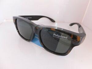3 - Solar Shield Polarized Sunglasses Fits Over Glasses Size M/L, Retail $19.99