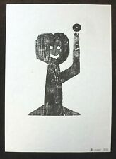 NEAL JONES Man and wheel    SIGNED NUMBERED LIMITED EDITION ART PRINT 3/5