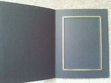 TAP Photo Insert Cards in Black with gold trim, size 5x7. Qty of 15