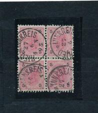 Österreich 5 Kreuzer 4er Block Stempel Ried im Innkreis 1895   (M3)