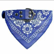 Собака бандана ошейник треугольник шарф регулируемый кожаный питомца кошка собачка шейный платок #