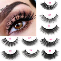 100% Real Mink Soft Long Natural Thick Makeup Eye Lashes False Eyelashes 1 Pair
