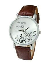 Fashion Women's Cool Watch Who Cares I am Late Anyway Letter Wristwatch - Brown