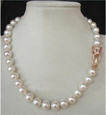 NEW HUGE AAA+ 10-11MM SOUTH SEA WHITE PEARL NECKLACE 18 INCH
