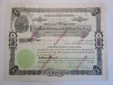 Guelph Mining and Milling Co., Ltd    An Idaho Corporation