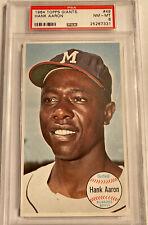 New listing 1964 Topps Giants Hank Aaron #49 PSA 8 NM-MT
