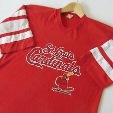 Vintage 70s St. Louis Cardinals Baseball Mlb Panel V-Neck T-Shirt Logo 7 50/50