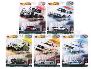 Hot Wheels Premium Car Culture Hyper Haulers Complete Set of 5 Cars